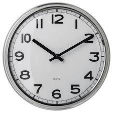 <b>ПУГГ</b>, <b>Настенные</b> часы, нержавеющ сталь | <b>ИКЕЯ</b> Калуга