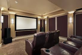 Small Picture Brown And Beige Color Scheme Home Theater Room With Individual