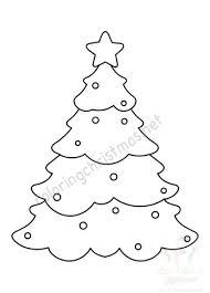 Printable Christmas Tree Christmas Tree Shape Free Printable Coloring Christmas