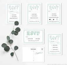 rsvp card template mint rustic diy rsvp card mountainmodernlife com
