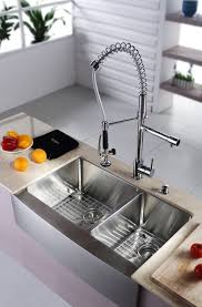 Faucet For Kitchen Sink Stainless Steel Kitchen Sink Combination Kraususacom