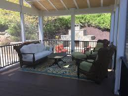 screened room porch outdoor stone fireplace paeonian springs
