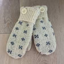 Felted Wool Designs Womens Felted Wool Repurposed Sweater Mittens Size Small