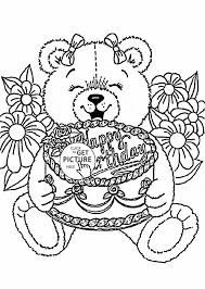 Small Picture Coloring Pages With Balloons For Kids Cake Party U Celebration