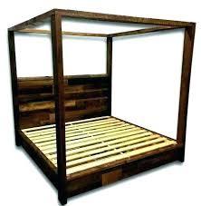 Upholstered Wood Canopy Bed Magnificent Platform King Home ...