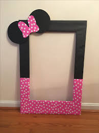 my diy photo booth prop frame for averys second birthday minnie mouse