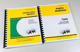 John Deere 7000 Planter Settings Chart Details About Operators Parts Manual Set John Deere 7000 Drawn Max Emerge Planter Catalog