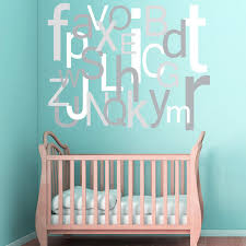 items similar to alphabet wall decal large oversized