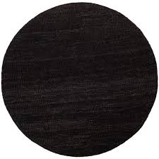 safavieh natural fiber black 6 ft x 6 ft round area rug
