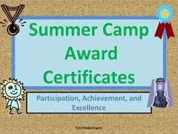 Summer Camp Award Certificates By Happyedugator - Teaching Resources ...