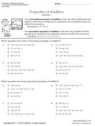 Zero Property Of Multiplication Worksheets 3rd Grade - Spelling ...Properties Of Addition