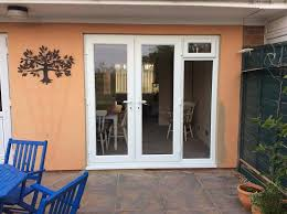 French Door Opening White French Doors With Side Opening Windows