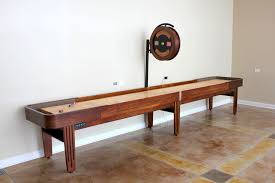 Homemade Wooden Games Furniture Large Cream Wooden Shuffleboard Table For Sale For 100