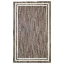 border loop dark khaki spice cream 5 ft x 8 ft indoor area rug