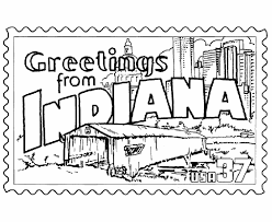 Small Picture Indiana State Stamp Coloring Page USA Coloring Pages Pinterest