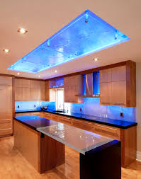 Kitchen Ceiling Lights Kitchen Contemporary With Back Lighting Backsplash  Beige