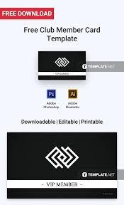 Free Club Member Card Card Templates Designs 2019 Pinterest