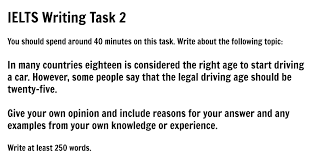 essay is the right age to start driving