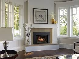 Glory Neutral Stone Fireplace Mantel Design And Likable Black Gas Gas Fireplace Ideas