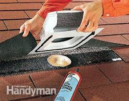 bath exhaust fan roof. cut a hole and pull back the shingles when you vent an exhaust fan through bath roof o