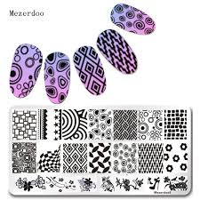 Fingerprint Design Us 1 63 15 Off 1pcs Steel Nail Stamping Plates Circle Fingerprint Design Tools Nail Art Diy Accessories Foils Beauty Star Pattern Mezerdoo6 In Nail