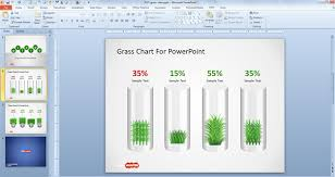 Chart Ideas For Powerpoint Free Creative Grass Chart Idea For Powerpoint Free