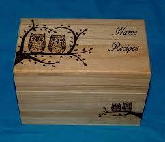 Decorative Recipe Box Decorative Recipe Box Personalized Wood Burned Recipe Card 6