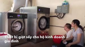 Bộ 2 Máy Giặt Sấy Công Nghiệp 20kg 25kg Giá Rẻ Cho hộ kinh doanh gia đình -  YouTube
