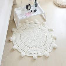 knitted floor mat 2019 hand woven carpets round rug wave window pad bedroom decor kids play rug bedroom props tapis d19010902 commercial carpet installed
