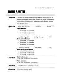 Resume Templates Open Office 52 Images Nouyang Free Open
