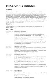Medical Service Engineer Sample Resume 8 Field 11 Samples