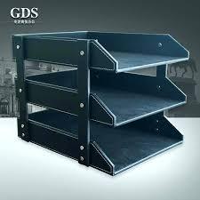 desk paper holder doent for brilliant file wooden leather desktop organizer with holders
