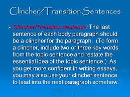 five paragraph essay pyramid ppt video online  3 clincher transition sentences