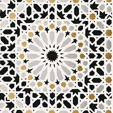 grey nasrid palace mosaic wallpaper