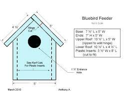 bluebird house plans. Bluebird Bird House Plans Feeder Western Nest Box