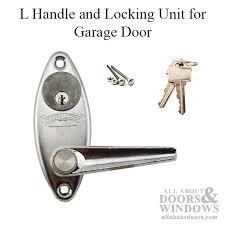 garage door lock handle. Overhead Door L Handle And Keyed Locking Unit For Garage - Chrome Lock