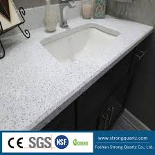 quartz countertop white crystal series for kitchen worktop vanity top