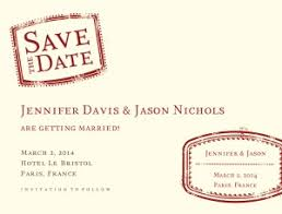 Save The Date Cards Template Printable Passport Save The Date Card Template