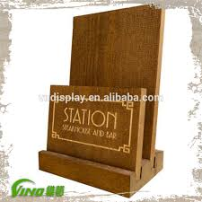 Wooden Menu Display Stands Gorgeous Good Quality Wood Menu Plinths Stand Restaurant Menu Display Stand