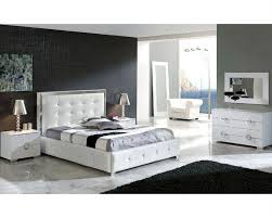 modern bedroom set valencia in white made in spain b
