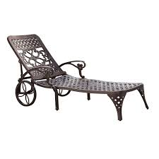 metal chaise lounge chairs. Amazon.com: Home Styles Biscayne Chaise Lounge Chair, Bronze: Garden \u0026 Outdoor Metal Chairs C
