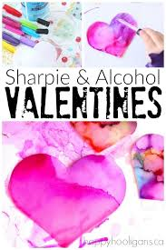 sharpie and rubbing alcohol valentines art activity happy hooligans