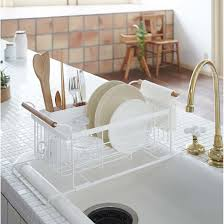 Over The Sink Drying Rack Furniture Home Kitchen Sink Dish Cup Utensil Drainer Dishes