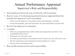 Employee Self Assessments Beauteous UMW Administrative And Professional Faculty Performance Evaluation