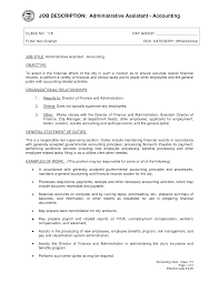 Accounting Assistant Job Description For Resume administrative assistant resume duties Resume Office Assistant Job 2