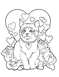 Small Picture coloring pages cats valentines two cats sweethearts coloring page