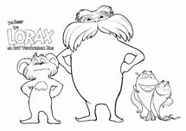 Lorax Coloring Pages Coloring4freecom