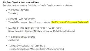 Rpo Nominated For Two Grammy Awards Rochester Philharmonic
