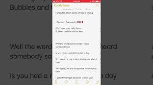 Who S Got Yer Belly Lyrics Youtube