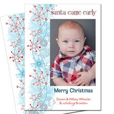 Birth Announcement Christmas Card Gender Reveal Football Invitations